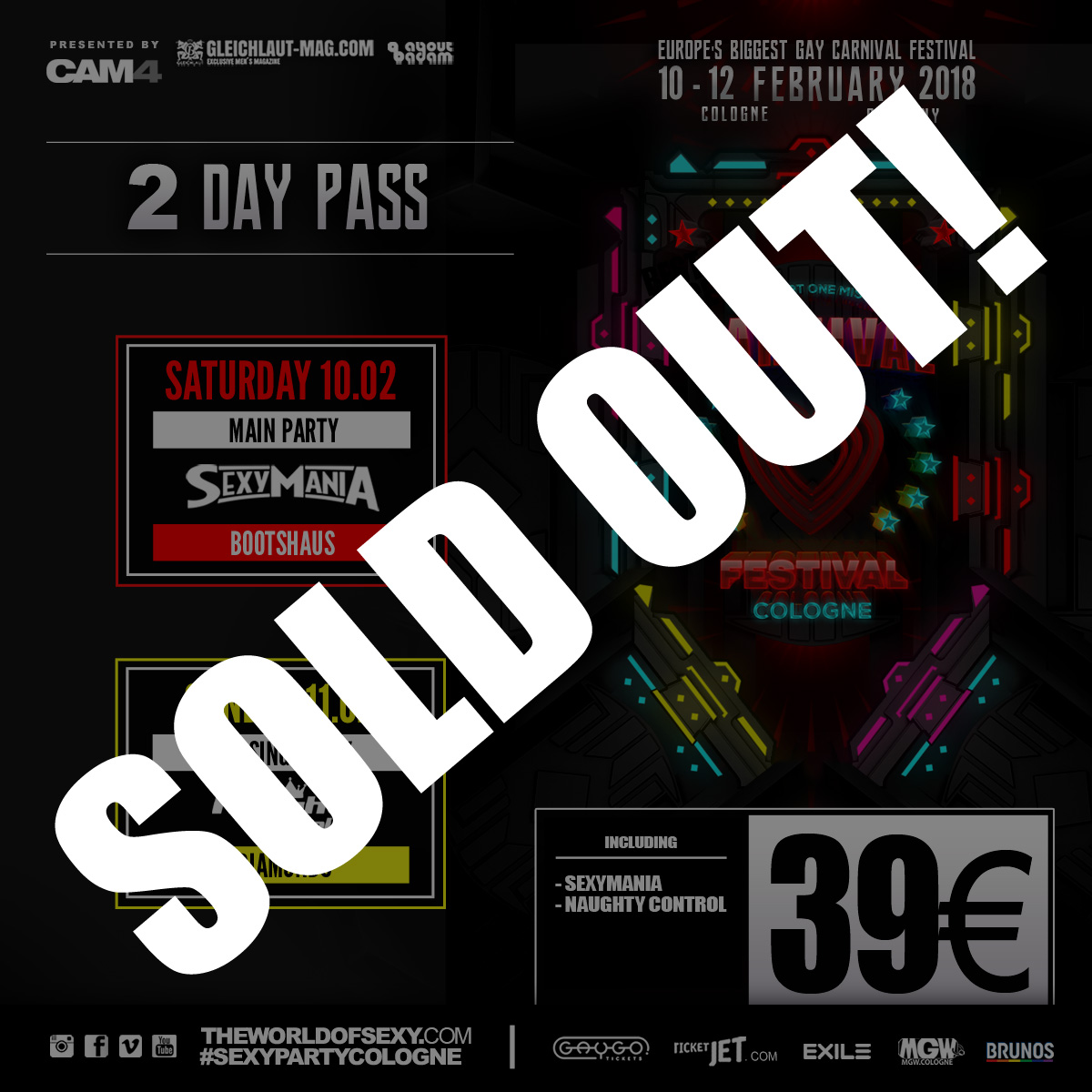 , ++ 2 DAY Pass ++ SOLD OUT! ++