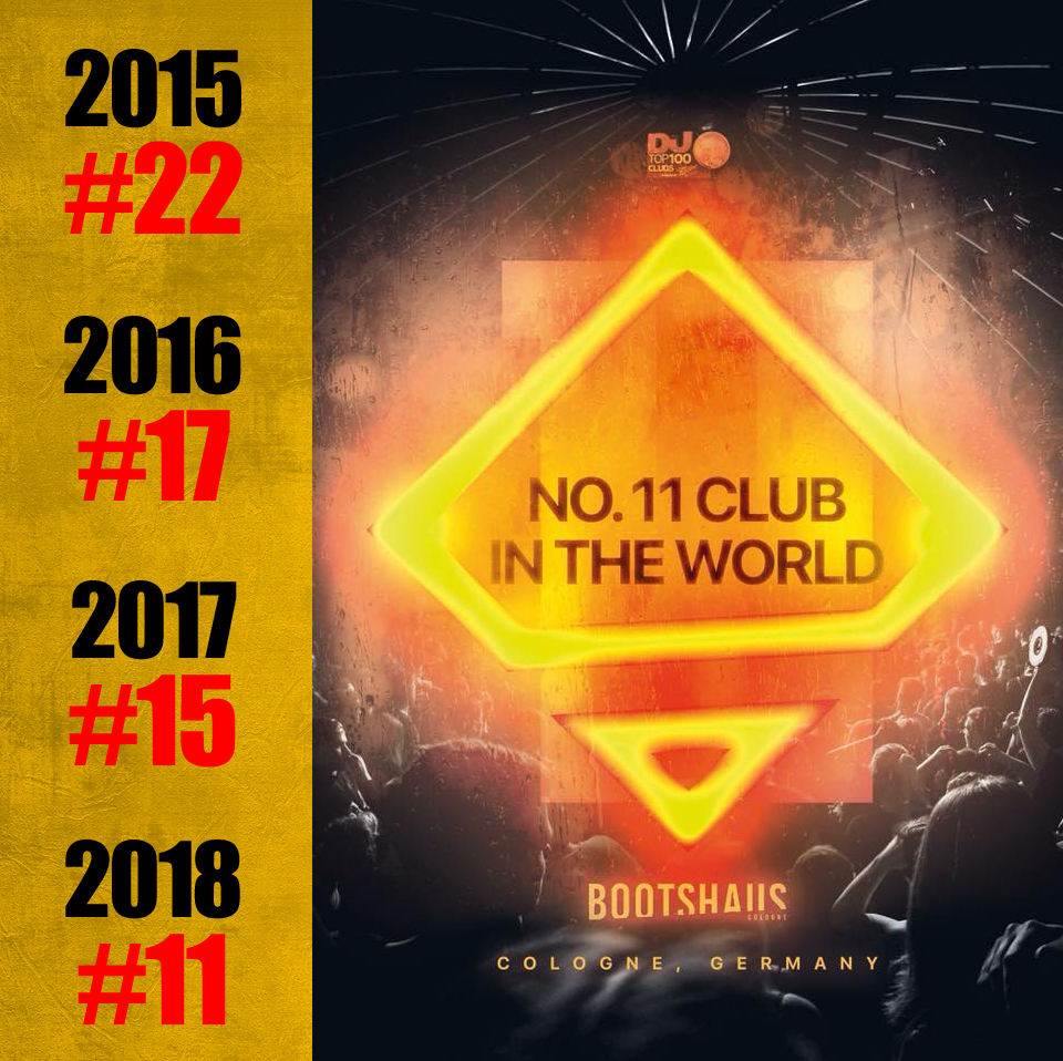 , +++  BOOTSHAUS IS NO.11 CLUB IN THE WORLD +++