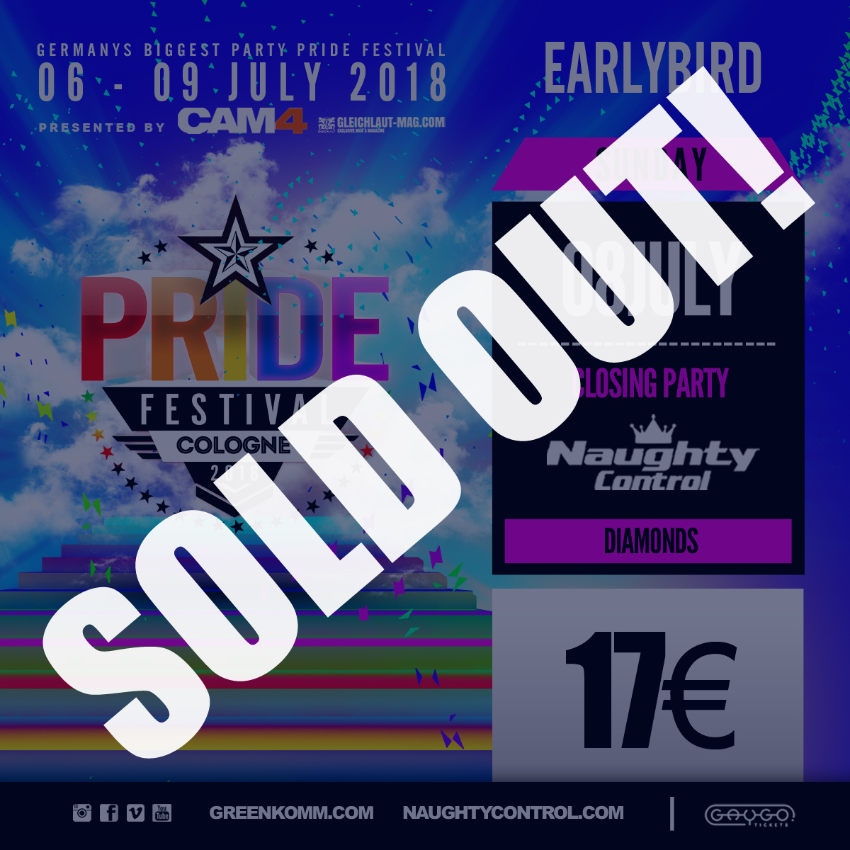 , +++ EARLY BIRD NAUGHT CONTROL | SOLD OUT! +++