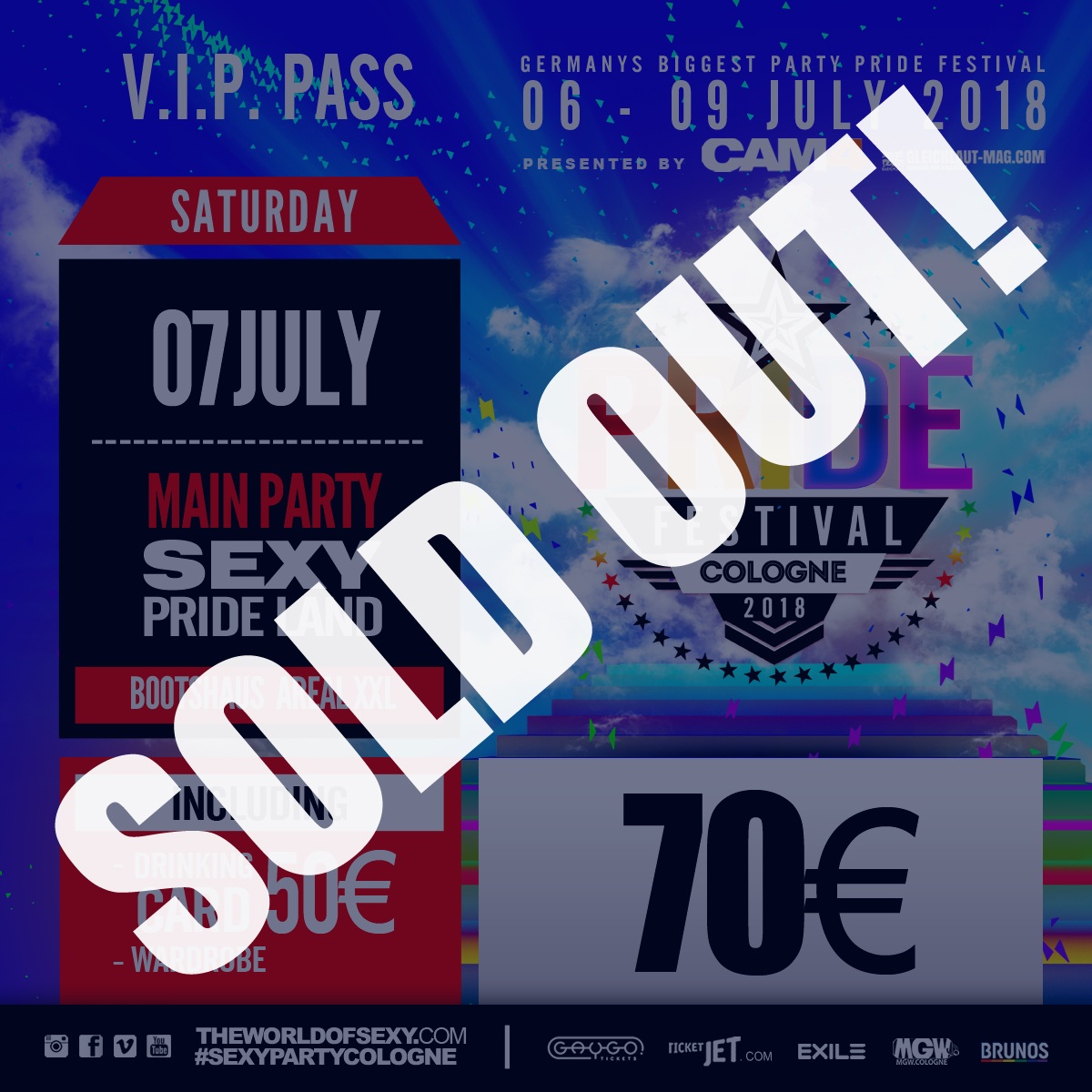 , +++ SOLD OUT : VIP PASS I +++