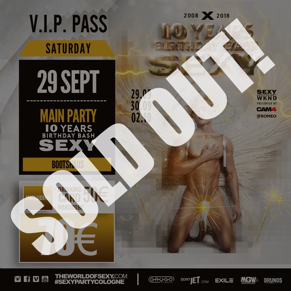 , +++ SOLD OUT : ANNIVERSARY V.I.P. PASS +++