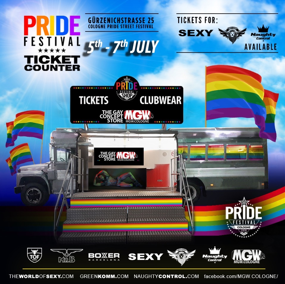 , PRIDE FESTIVAL – TICKET COUNTER 2019 by MGW